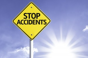 Stop Accidents Road Sign