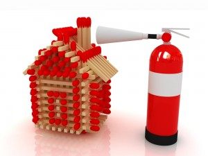 A house of Matches and Fire Extinguisher