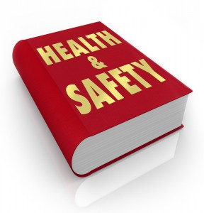 Book labelled Health and Safety