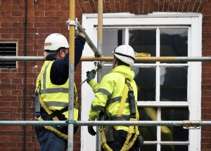 Scaffolders working at height
