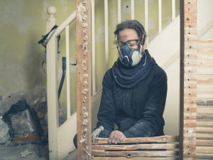 Lady wearing Personal Protection PPE