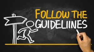 follow the health and safety guidelines written