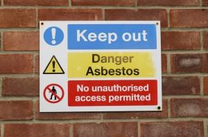 Asbestos Sign in Schools